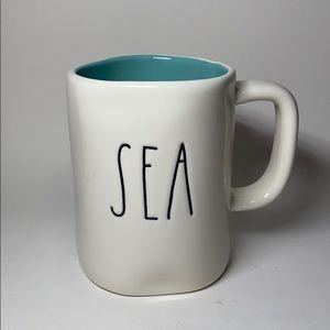 NWT Rae Dunn SEA Turquoise Mug Coastal